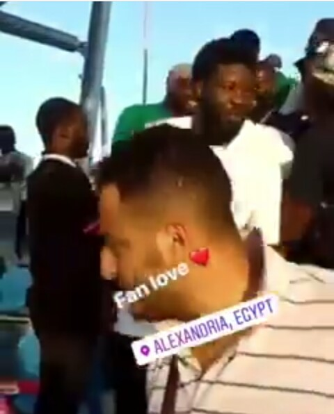 Nigeria Vs Guinea: Mompha Mobbed By Fans At Alexandria Stadium, Egypt 1