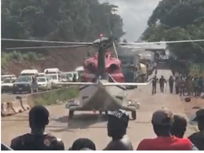 Update: Helicopter On Benin-ore Road 'picked Up Stroke Victim' Not A 'big Boy' 1
