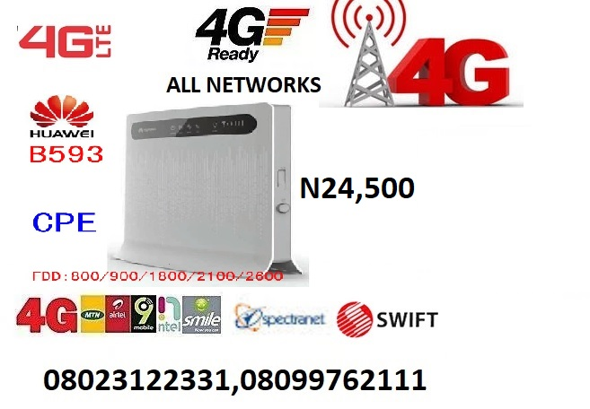 4g Lte Router For All Nigerian Network-ntel/swift/spectranet