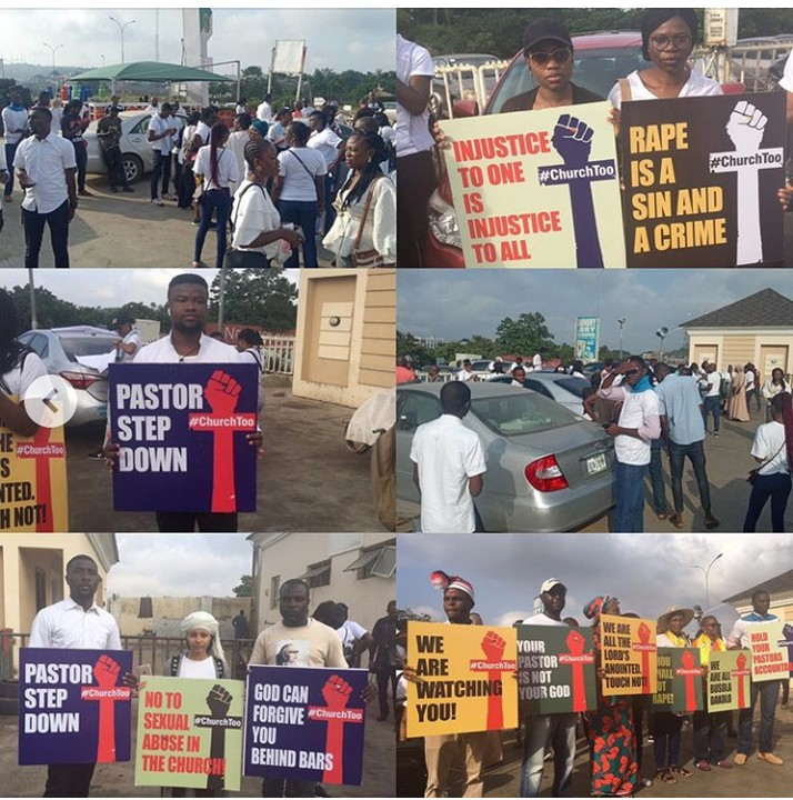 Nigerians Storm COZA Church To Prostest Against Pastor, Insist He Steps Down 5