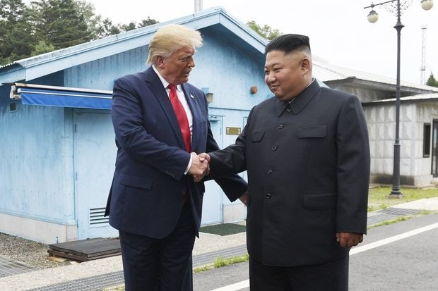 Trump Becomes First US President to set foot in North Korea As He Meets Kim 1