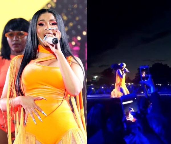 Image result for Cardi B 'begs' for her wig she threw to a crowd during performance (video)