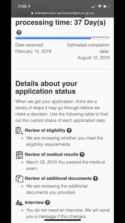 Cic Processing Time After Medical Exam 2019