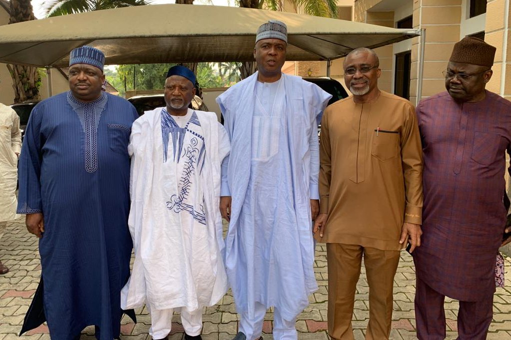 Saraki Hosts Senate Minority Leaders To Closed-door Meeting (photos)
