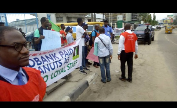 Mass Sack In Ecobank, Sacked Workers Protest 3