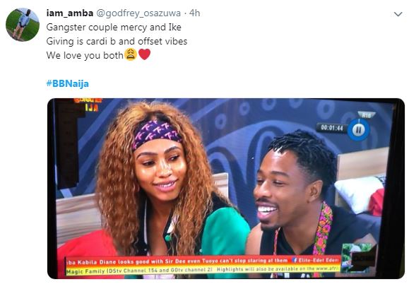 Image result for ike and mercy bbnaija