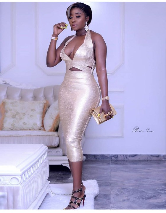 Actress Ini Edo Step out In Open Chest Outfit