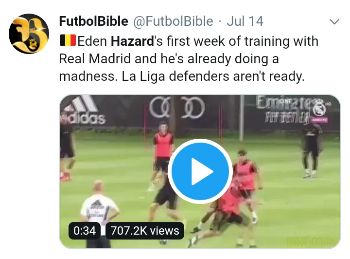 Real Madrid Fans Stunned To See Hazard In Action