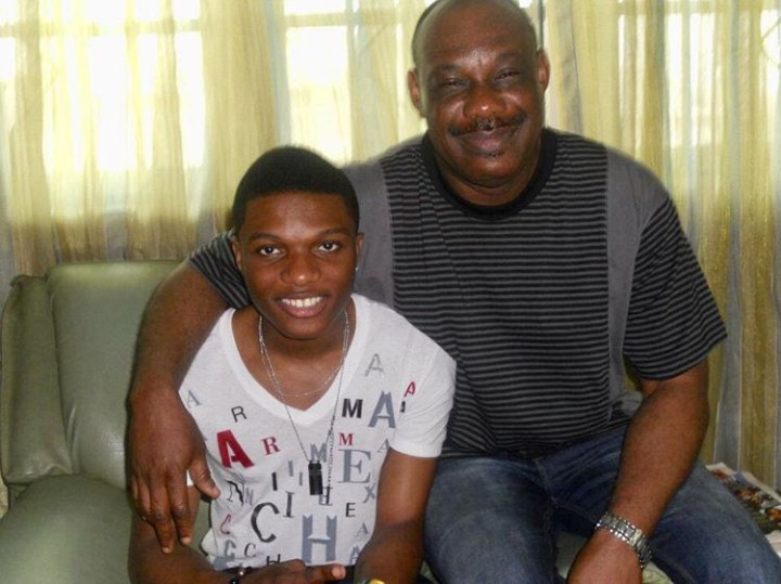 Don Jazzy's Father Shares Throwback With Wizkid To Celebrate Him On His Birthday 1