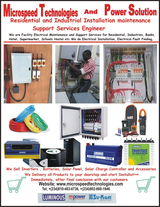We Sell Deliver And Install Luminous Inverter And