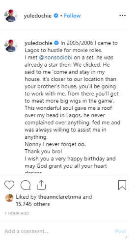 Yul Edochie Narrates How Nonso Diobi Sheltered And Fed Him On His Way To Stardom 2