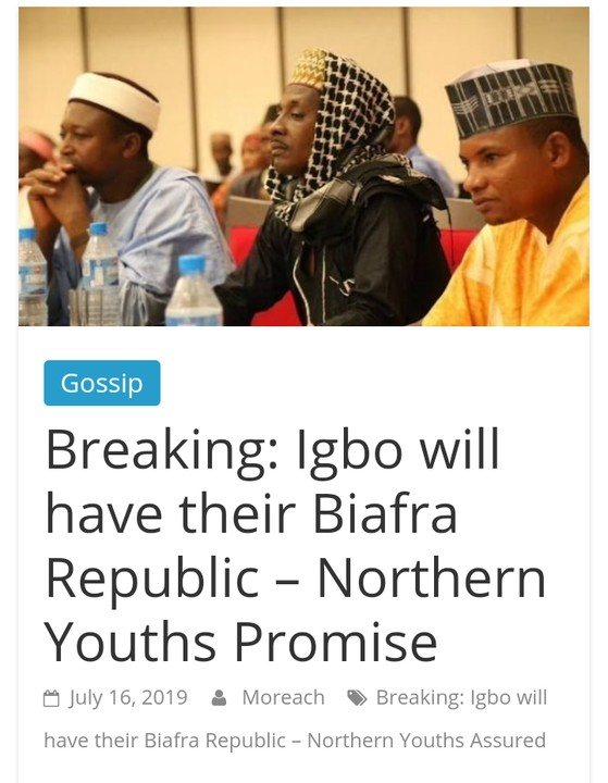 Let Biafra Go - Arewa Youths 1