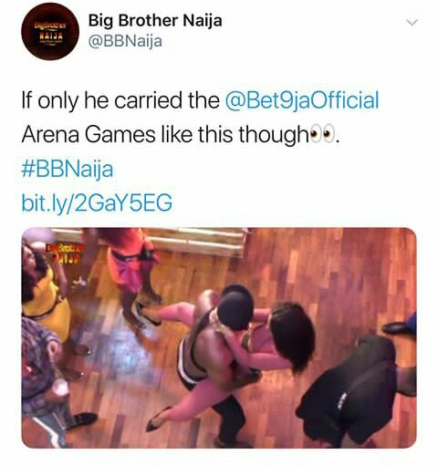 Image result for Ike almost Fight Tuoyo for Dancing Dirty with Mercy in BBNaija Party
