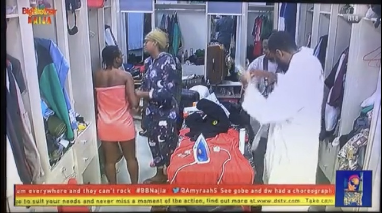 #BBNaija : Thelma Furious As Omashola Enters The Bathroom While She Was Unclad 3