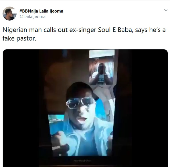 Soul E Is Fake Pastor - Nigerian Man Says After Receiving 'fake