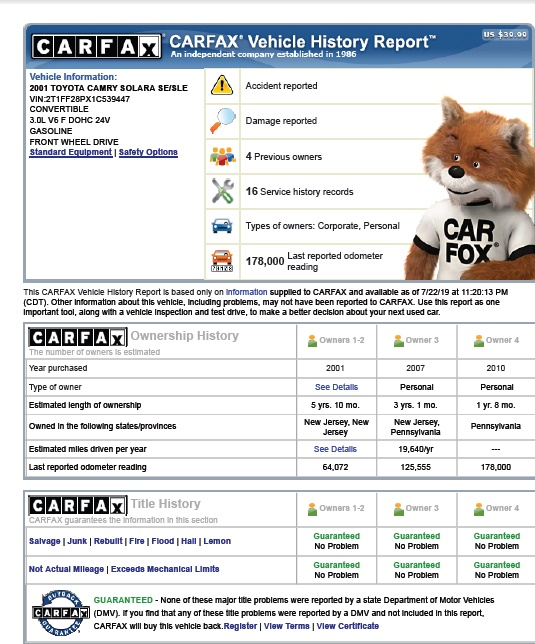 Carfax Report Sample You Should Know About Autos Nigeria