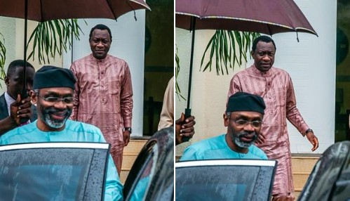 "Femi Gbajabiamila Visits His Campaign DG, Jubrin [Photos] ""Committee Chairmen"""