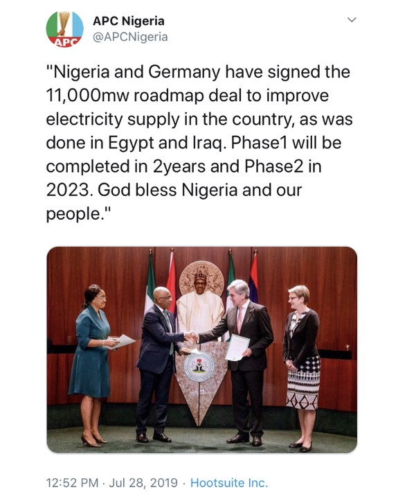 Nigeria And Germany Sign The 11,000mw Roadmap Deal To Improve ... on environment of germany, products of germany, road map western germany, partners of germany, introduction of germany, blueprint of germany, map of germany, detailed map germany, online maps germany, architecture of germany, education of germany, culture of germany, mop of germany, resources of germany, overview of germany, team of germany, terrain of germany, features of germany,