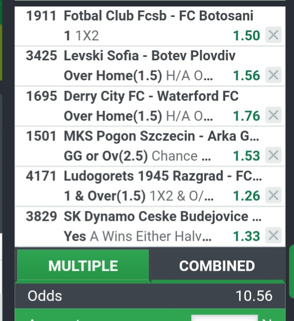98% Sure  10 Odds : 29/07/19 Stakewisely - Sports - Nigeria